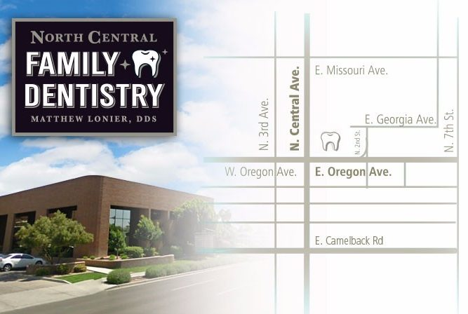 Map to North Central Family Dentistry